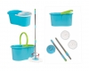 360 Easy Clean Rotating Spin Magic Hurricane Mop Micro Fiber Head Bucket Blue
